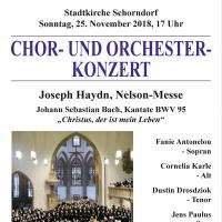Plakat Konzert Nelson-Messe